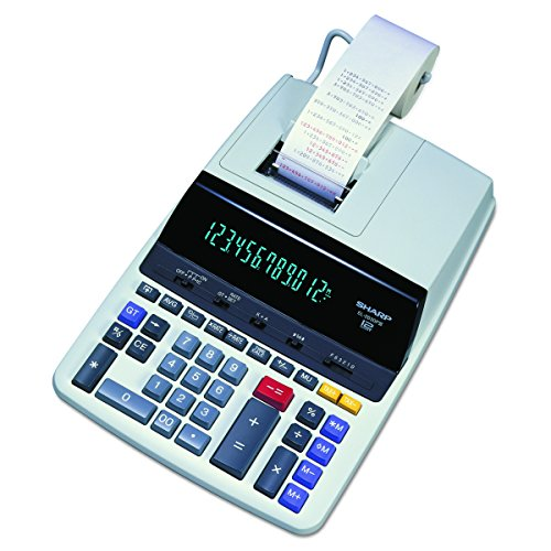 Sharp El 2630Piii Two Color Printing Calculator 4 8 Lines Sec 4  Black Red