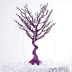 "Efavormart 30"" Glittered Manzanita Centerpiece Tree for Wedding Banquet Birthday Party Event Tabletop Decorations - Purple"