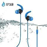 Best e-joy Laptop Pcs - AGPTEK IPX8 Waterproof Headphones, E14BL Wired In-ear Earbuds Review