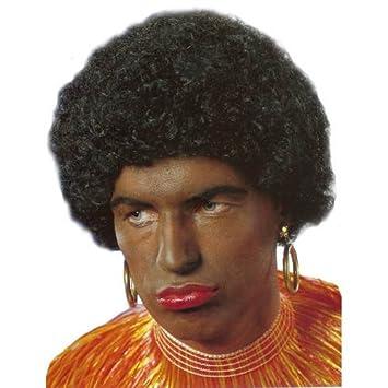 Party Discount Perruque Homme Africain Noir: