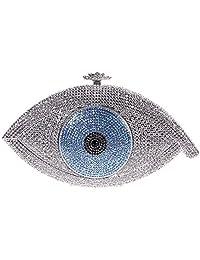 Fawziya Eye Shape Crystal Wedding Purses And handbags Evening Bag