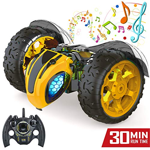 Jasonwell 1:8 X-Large RC Car for Kids Remote Control Car 2.4Ghz Rechargeable Off Road Race Cars Bumble Lightning Bee Rock Crawler Music Electric RC Toys Gifts for Boys Girls 5 6 7 8 9 10 12 Years Old (8 11 Transformers Toys Boys)