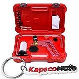 Biltek 2 In 1 Brake Bleeder & Vacuum Pump Gauge Test Tuner Kit Tools DIY Hand Tools New Auto Hand Held Brake Bleeder & Vacuum Pump Gauge Test Tester Tuner Tool Kit Set + KapscoMoto Keychain