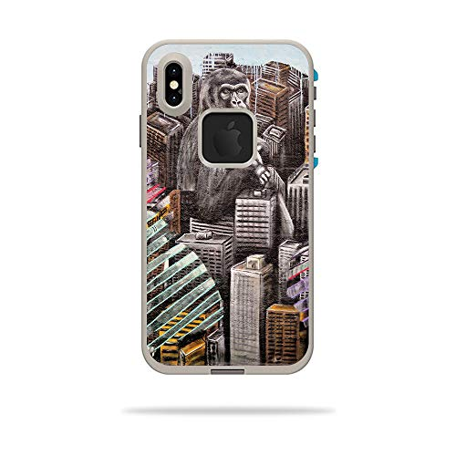 - MightySkins Skin for LifeProof FRE iPhone Xs Max Case - Big City Monkey | Protective, Durable, and Unique Vinyl Decal wrap Cover | Easy to Apply, Remove, and Change Styles | Made in The USA