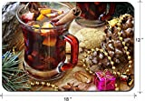 Liili Large Mouse Pad XL Extended Non-Slip Rubber Extra Large Gaming Mousepad, 3mm thick Desk Mat 18x12 Inch cup of hot mulled wine for Christmas and New Year IMAGE ID 34504406