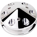 """NEW BILLET SPECIALTIES POLISHED ALTERNATOR PULLEY WITH 1 V-BELT GROOVE, FITS MOST GM, DELCO, AND FORD ALTERNATORS, INCLUDES A NOSE CONE, 2 1/2"""", 6061-T6 ALUMINUM, MIRROR FINISH"""