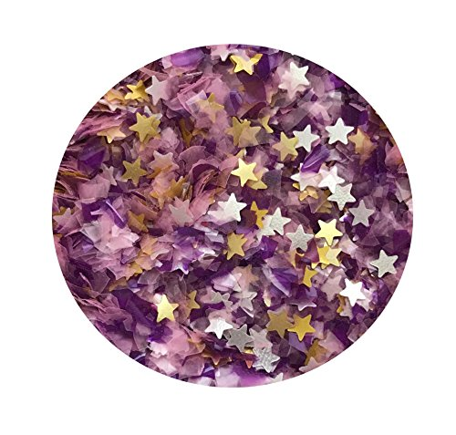 (EDIBLE GLITTER Pick Up your COLOR 1/4 oz. flakes, stars, for cakes,for cupcakes, for cookies By Oh Sweet Art (Purple Pony))
