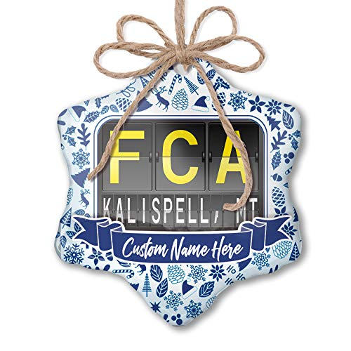 NEONBLOND Custom Tree Ornament FCA Airport Code for for sale  Delivered anywhere in USA