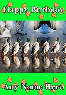 Ducks cartolina di auguri A5carta di compleanno personalizzato CODE121