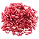 Yueton® 100pcs Red 22/18- Gauge Nylon Female Fully-Insulated Quick Disconnects Wiring Spade Wire Crimp Terminal