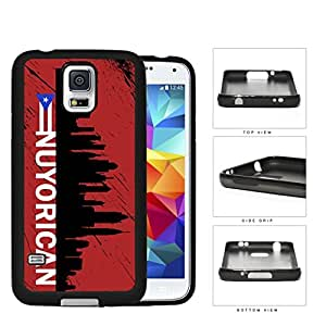 Nuyorican New York City Silhouette Rubber Silicone TPU Cell Phone Case Samsung Galaxy S5 SM-G900