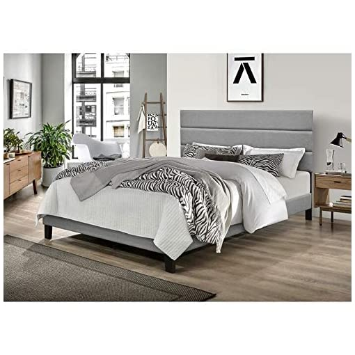 Bedroom King Bed Frame with HEADBOARD Durable and Sturdy Plarform Bed Frame King Size with Wood Slat Support and Streamlined… modern beds and bed frames