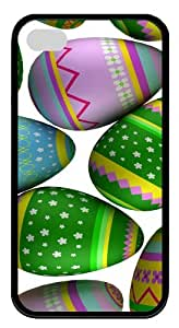 for cheap iphone 4 cases Colorful Easter Eggs 3 TPU Black for Apple iPhone 4/4S