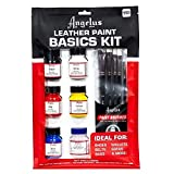 Leather Paint Basics Kit, Contains 1 Ounce Bottles