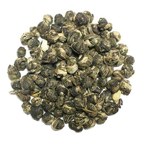 The Tea Farm - Jasmine Emperor's Pearl Green Tea - Chinese Loose Leaf Green Tea (4 Ounce - Brands List Glasses