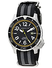 Momentum Men's 1M-DV74Y7S Analog Display Japanese Quartz Black Watch