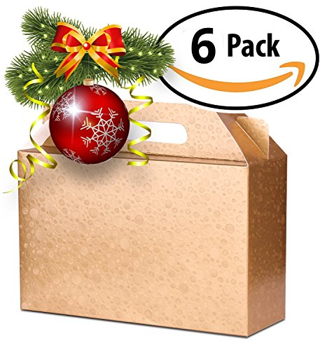 Best Decorative Gift Boxes Set of 6 with Lids by Giovanni Grazielli Italian Design Premium and Stylish in Gold for different Occasions Holiday Wedding Birthday and Christmas (11.42x4.13x7.28 inches) (Gold Gift Boxes)