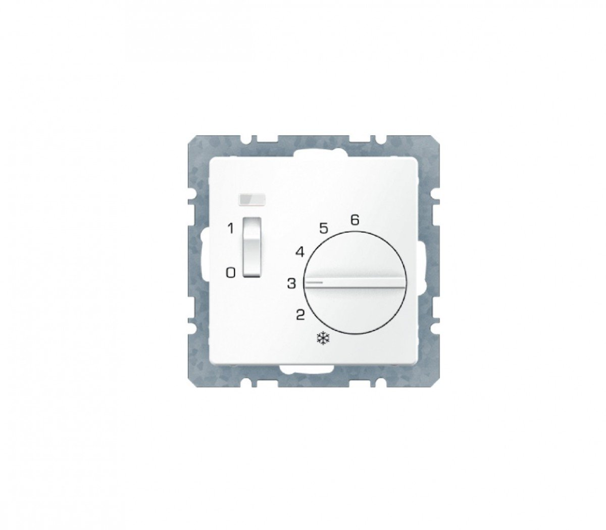 Hager q.1 - Placa termostato con interruptor +lente+ ...
