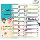 #5: Baby Bottle Labels for Daycare,School, Waterproof Write-On, Self-laminating Name Labels, Tags, Sticker Multiple Colors(Kids and Beach)