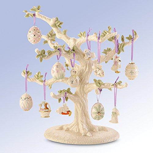 Lenox Easter Miniature Tree Ornaments Set of 12 Eggs Bunny Lamb Chick Ducks NO TREE (Ornaments Lamb)