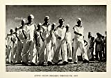 1937 Print Jewish Sailors Tel Aviv Uniform Israel Military Seamen Parade March - Original Halftone Print