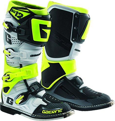 Gaerne 2174-051-010 SG-12 Boots (White/Black/Neon, - Shin Sg Guard