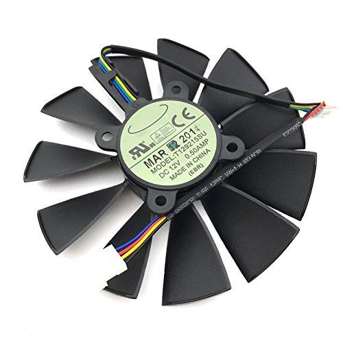For ASUS STRIX GTX780 780TI GTX970 980 R9 280x 290X graphics card fan T129215SU (FAN-A (1 pcs)) (R9 280x Video Card)