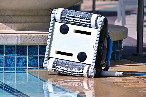 Dolphin Nautilus CC Plus Robotic Pool Cleaner with Top Load Filter Cartridges Ideal for Pools Up To 50 Feet.