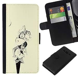 A-type (Resumen máscara Vintage Amarillo Retro) Colorida Impresión Funda Cuero Monedero Caja Bolsa Cubierta Caja Piel Card Slots Para Samsung Galaxy A3