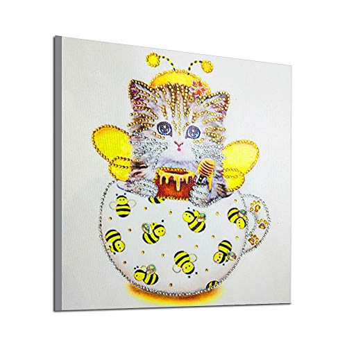 DIY 5D Diamond Painting Kit, Full Drill Cute Cat Embroidery for sale  Delivered anywhere in USA