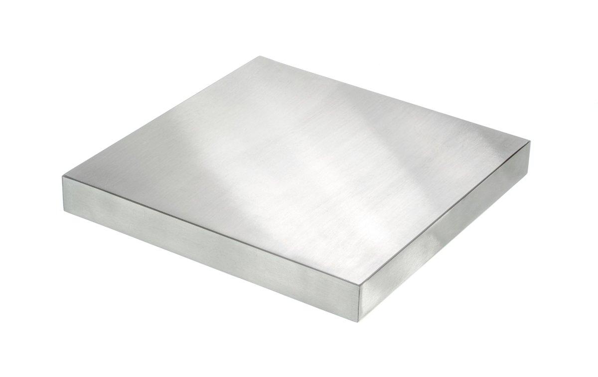 SE JT34662DP 6'' x 6'' x 3/4'' Steel Bench Block