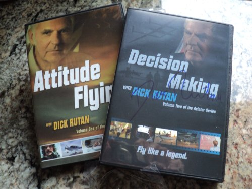 SET OF TWO DVD'S Autographed BY DICK RUTAN~ATTITUDE FLYING & DECISION MAKING (Autographed Set)