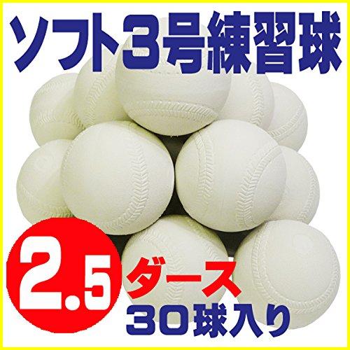 ソフトボール 3号 練習球 スリケン 検定落ち 2.5ダース (30球入り) Training-soft3-30 B009WJV6O4