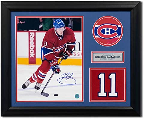 7c8f8b721 Brendan Gallagher Montreal Canadiens Autographed Autograph Franchise Jersey  Number 23x19 Frame - Certificate of Authenticity Included