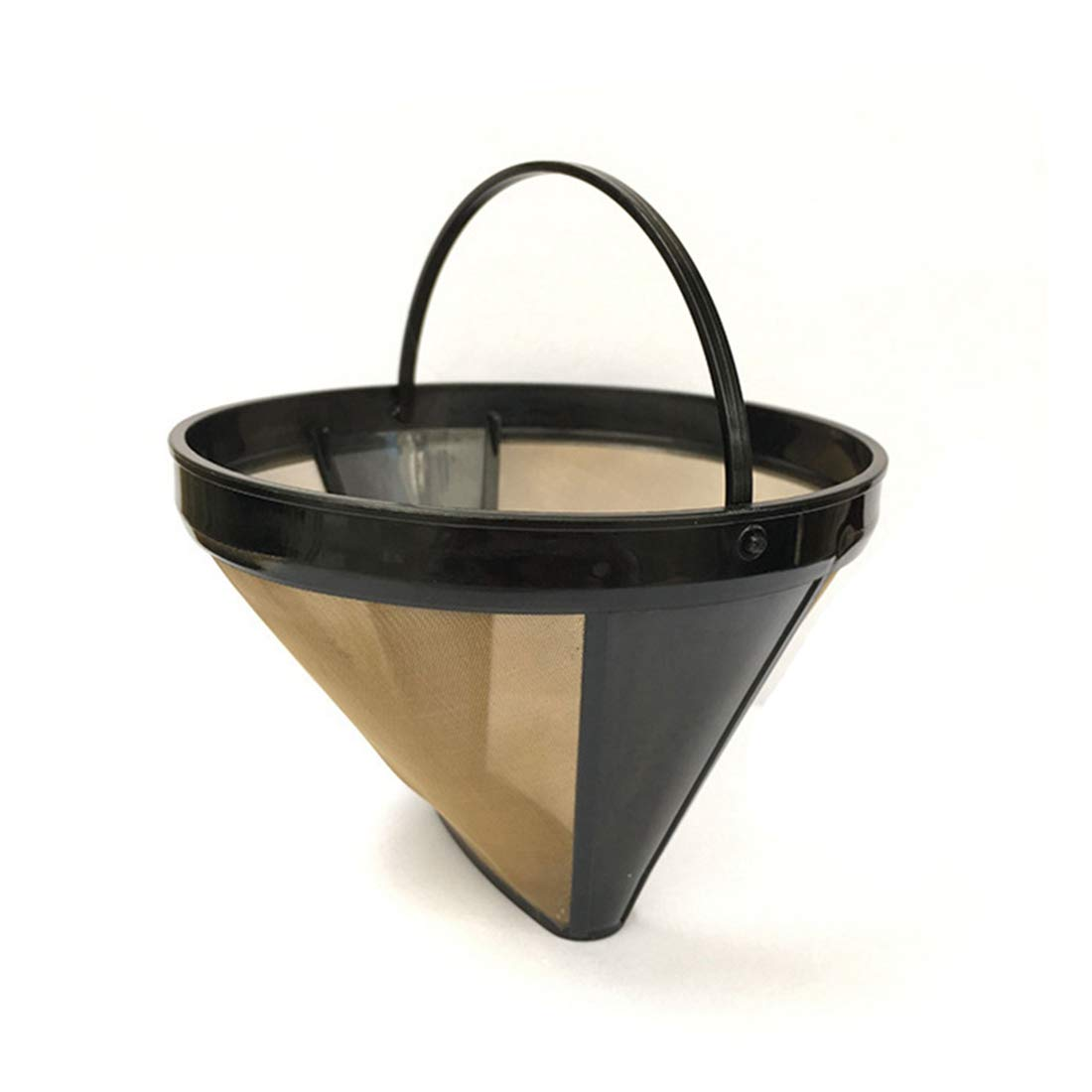 WEATLY Filterkaffeemaschine Zubehör Trichterfilter American Coffee Pot Basket Kaffeepulverkorb (Color : Black)