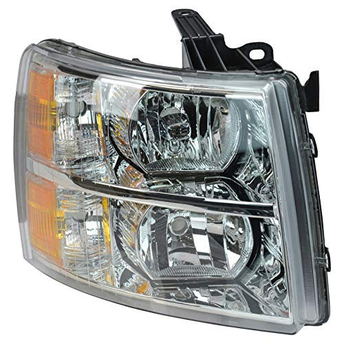 (Headlight Headlamp Passenger Right RH for 07-14 Chevy Silverado Pickup Truck)