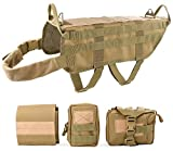 JASGOOD Tactical Dog Training Molle Vest Harness, WHIPPY Pet Vest with Detachable Pouches
