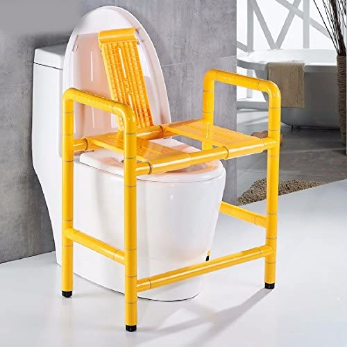 浴室用手すり バリアフリーの抗菌ナイロン高齢者身体障害者入浴椅子,黄色,B