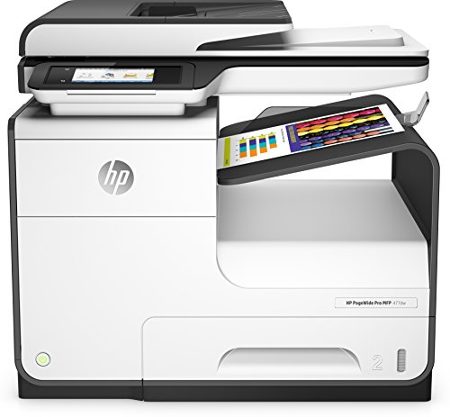 HP PageWide Pro 477dw Multifunktionsdrucker (A4, Drucker, Scanner, Kopierer, Duplex, Fax, WLAN, LAN, HP ePrint, Airprint, Cloud Print, USB, 2400 x 1200 dpi) weiß