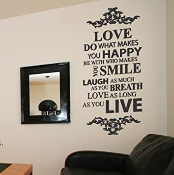 Large Live Love Laugh Family Smile Happy Art Wall Quoteswall