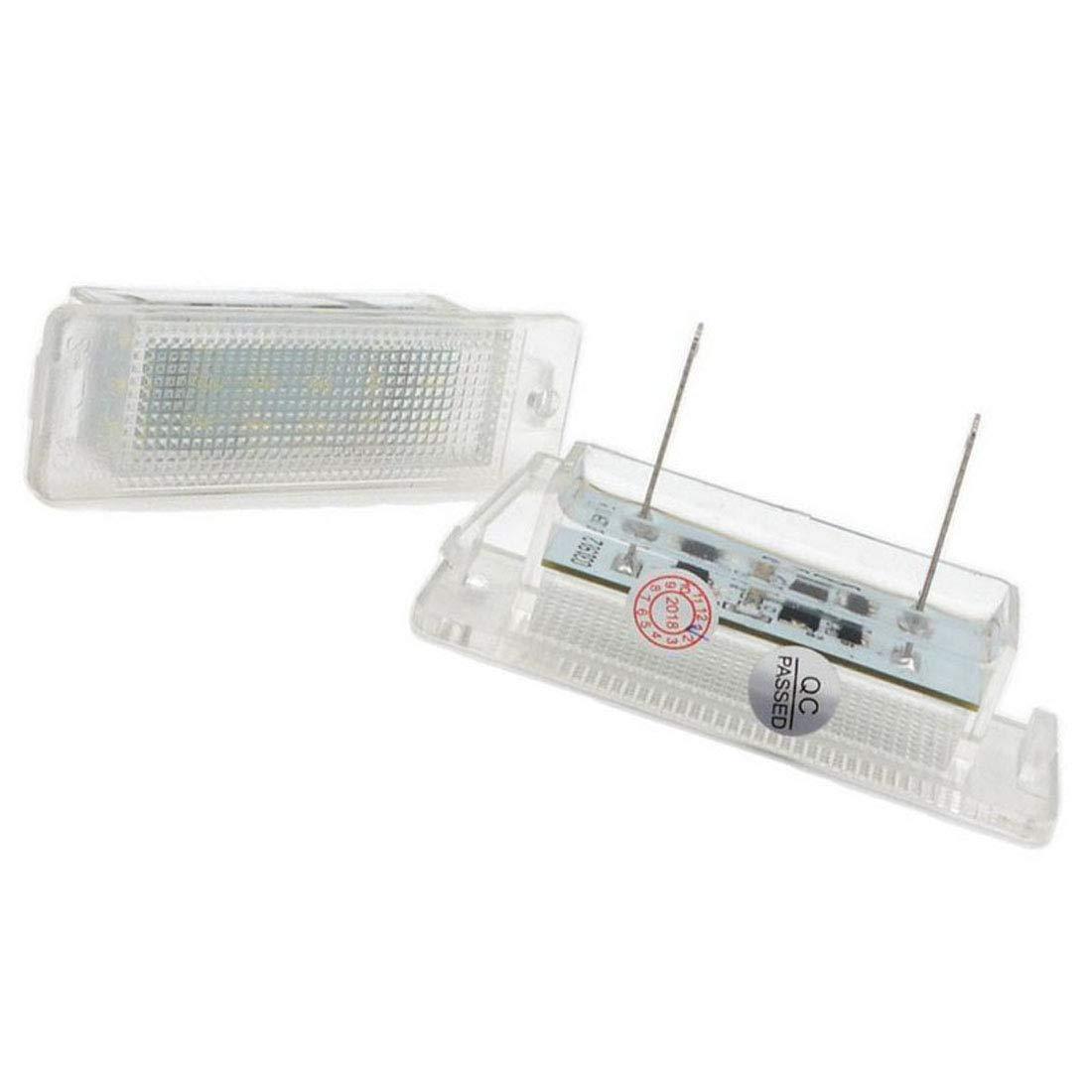 MuChangZi 2Pcs Canbus 12V 18SMD LEDs Plaque dimmatriculation lumi/ère pour O//pel Astra F 1992-1998 Astra MK III F Calibra