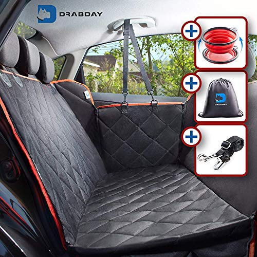 Drabday Dog Car Seat for Backseat – Ultra-Durable Dog Seat Cover for Back Seat – Heavy-Duty & Non-Slip Dog Hammock – Waterproof Pet Seat Cover for Dogs Pet Seat Covers for Car Truck & SUV For Sale