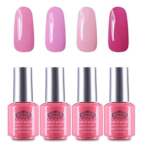 LED UV Gel Nail Polish - Perfect Summer Pack Of 4 Fashion Co