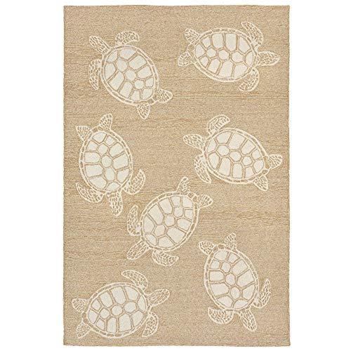 - Liora Manne CAP71163412 Capri Summer Coastal Ocean Sea Turtle Pattern Indoor/Outdoor Patio Waterproof Rug 7'6