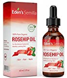 rose hip oil organic - 100% Pure Rosehip Oil - 2 OZ - Certified ORGANIC - Cold pressed & unrefined - NON Greasy HIGH absorbency - Use daily - Anti ageing, nourishes, hydrates and visibly reduces fine lines, scars, stretch marks and skin pigmentations - Suitable for all skin types - Eden's Semilla Essential Skin Care