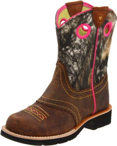 Kids' Fatbaby Cowgirl Western Boot (Toddler/Little Kid/Big Kid),Rough Brown/Camo,6 M US Big Kid ()