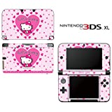Hello Kitty Pink Hearts Beautiful Princess Video Game Vinyl Decal Cover Skin Protector for Nintendo 3DS XL