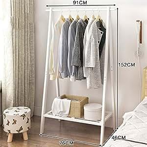 Amazon.com: GJM Shop - Perchero de madera maciza horizontal ...