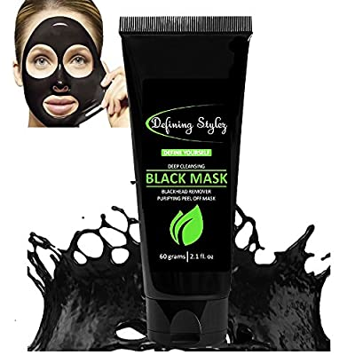 Defining Stylez, Blackhead Remover, Black Mask, Pore Cleanser, Peel Off Mask, Charcoal Mask, Acne & Acne Scars, Blemishes, Anti-Aging, Wrinkles, Face Mask, Organic Activated Charcoal from Nutrisuppz