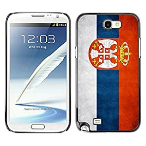 Shell-Star ( National Flag Series-Serbia ) Snap On Hard Protective Case For Samsung Galaxy Note 2 II / N7100